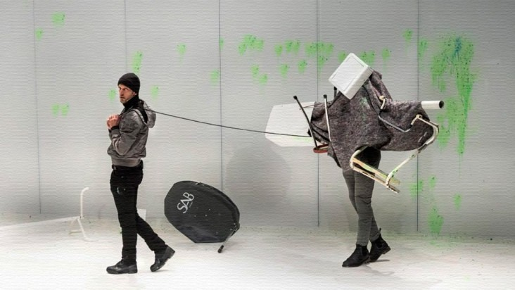 """The Automated Sniper"" installation and video game"