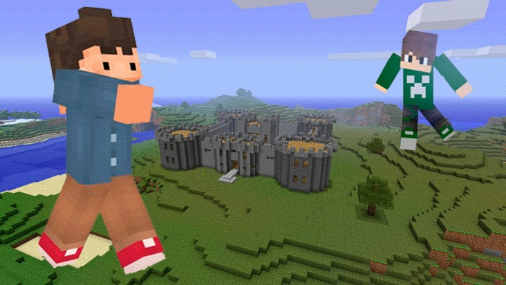 Planetacraft: Creeper y Enderman visitan la edad media
