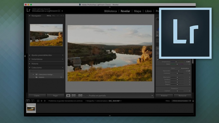 Revelado de negativos digitales raw con Lightroom - 3h